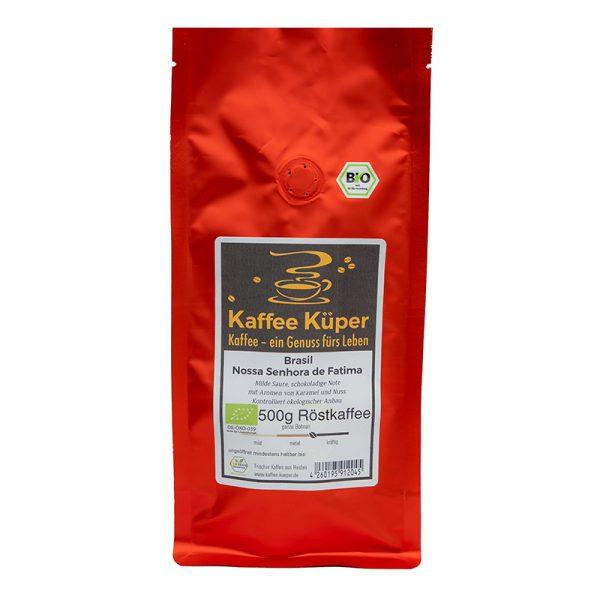Der Kaffee Brasil Organico überzeugt mit einer milden Säure, schokoladigen Note mit Aromen von Karamel und Nuss.
