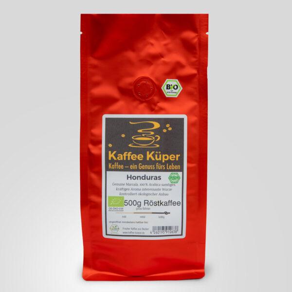 Der Honduras Organico Marcala ist ein 100% Arabica Kaffee mit einem samtigen, kräftigen Aroma und einer sehr interessanten Würze.