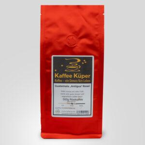 Der Kaffee Guatemala Antigua Rosel überzeugt mit vollem Aroma, edler Fülle und einem sehr guten Körper und angenehmer milder Säure.